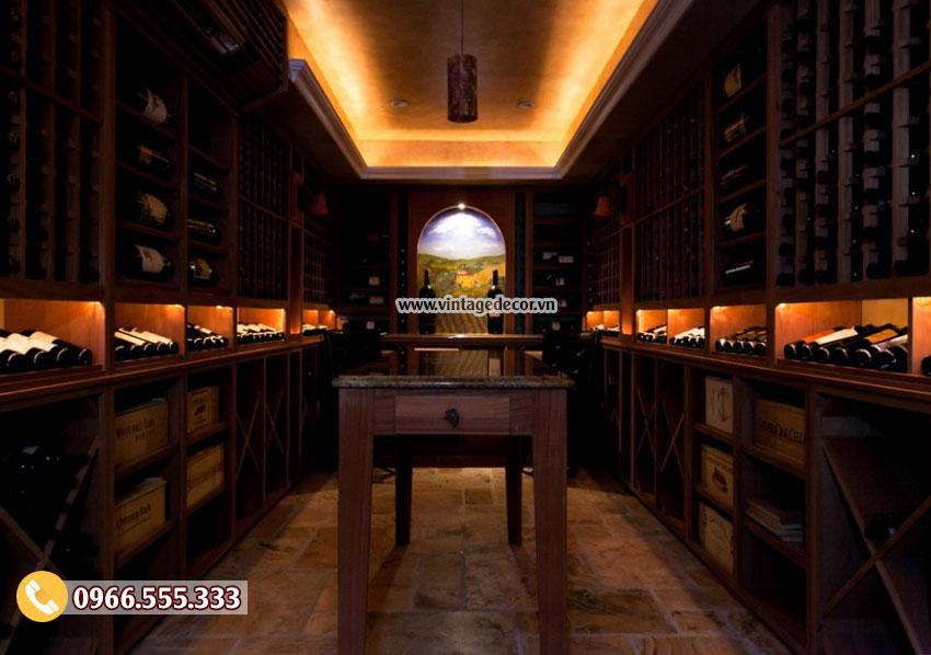 Ánh sáng trong hầm rượu