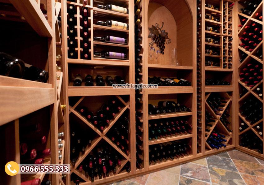 Mẫu hầm rượu vang mini trong nhà HR71