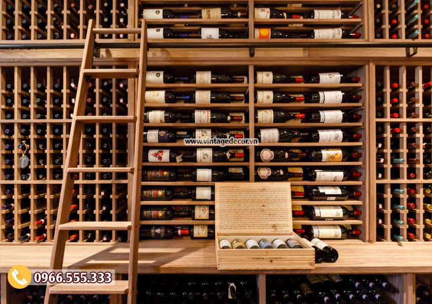 Mẫu thiết kế hầm lưu trữ rượu vang đẹp HR78