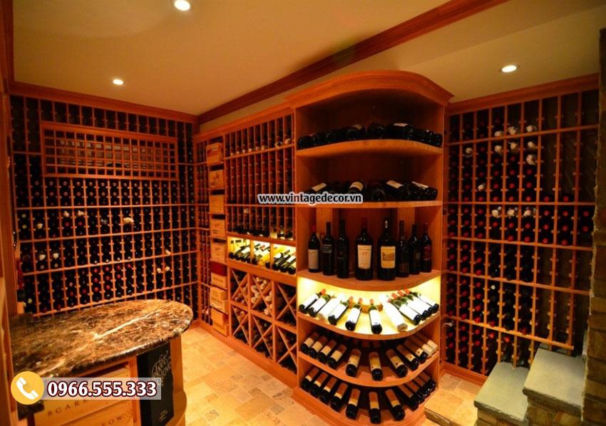 Mẫu thiết kế hầm rượu vang gia đình đẹp HR81
