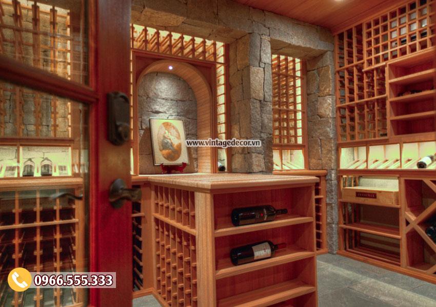 Mẫu thiết kế hầm rượu vang cổ điển HR82