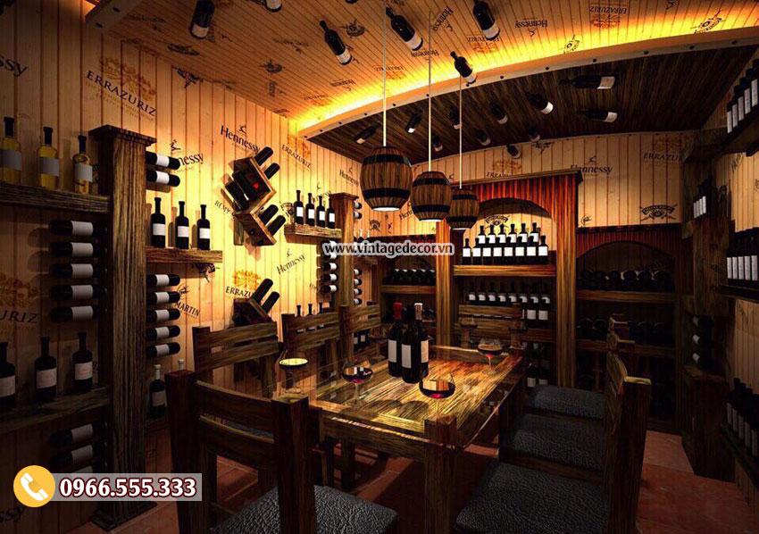 Mẫu hầm rượu nhà hàng rượu vang BR61