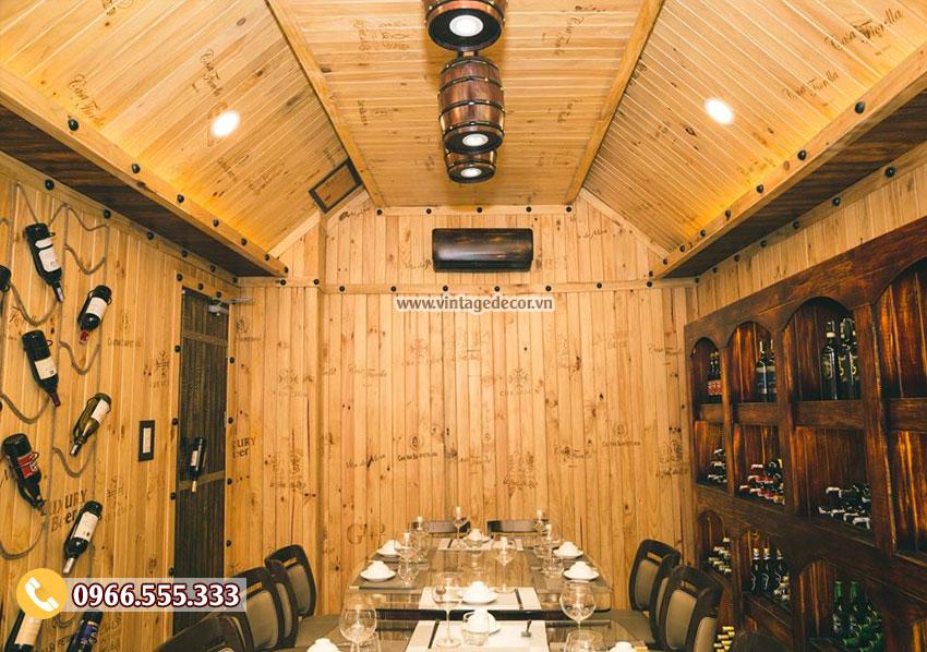Mẫu hầm rượu nhà hàng rượu vang đẹp BR57