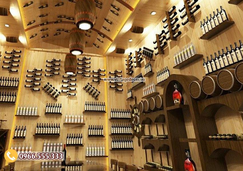 Mẫu thiết kế nhà hàng hầm rượu vang cổ điển đẹp BR56