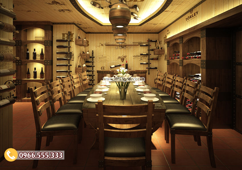 Mẫu thiết kế nhà hàng hầm rượu đẹp BR42