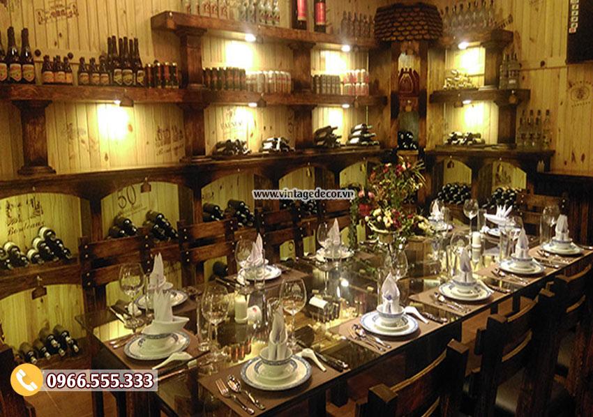 Mẫu Phòng Vip nhà hàng rượu vang đẹp BR25