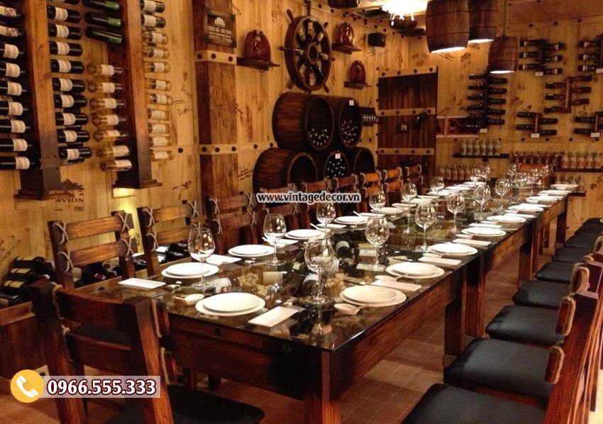 Mẫu thiết kế nội thất phòng Vip nhà hàng rượu vang BR28