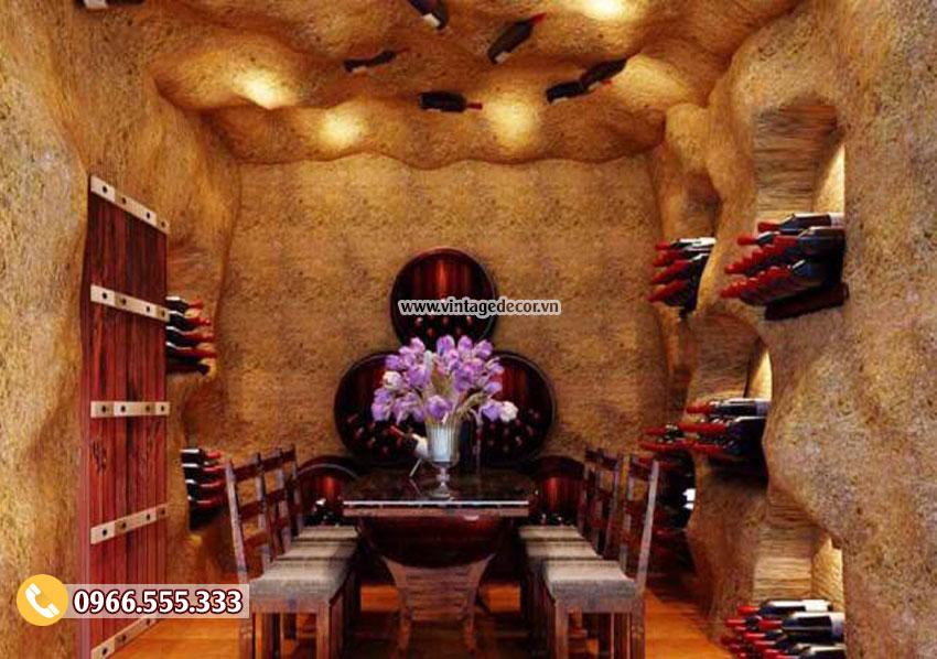 Mẫu thiết kế nhà hàng hầm rượu vang BR29