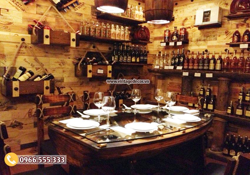 Mẫu thiết kế nội thất nhà hàng hầm rượu đẹp BR31