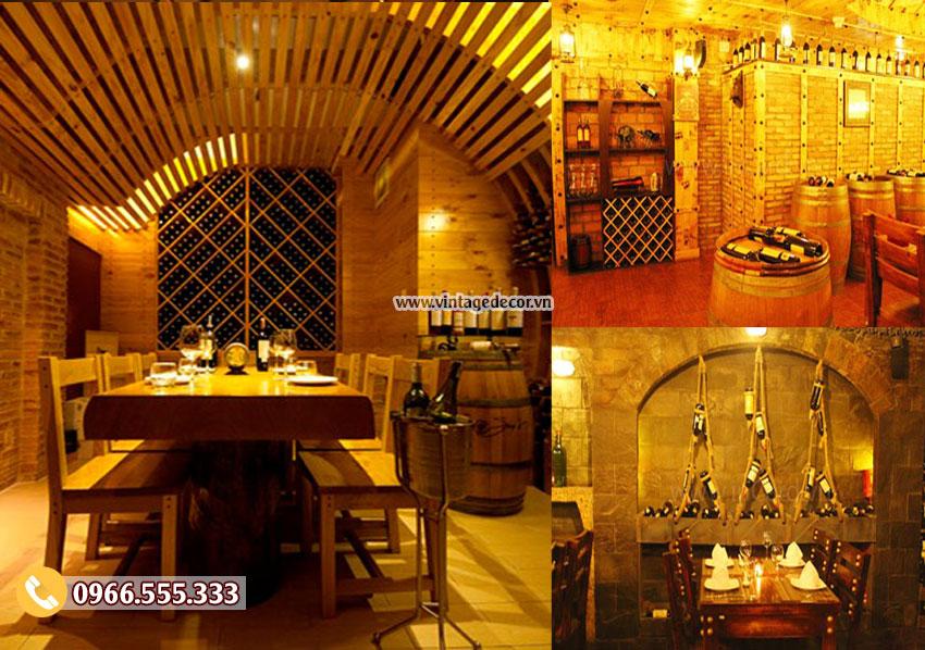 Mẫu phòng Vip thiết kế nhà hàng rượu vang BR35