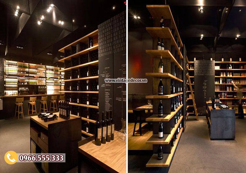 Mẫu showroom rượu vang phong cách châu âu SR28