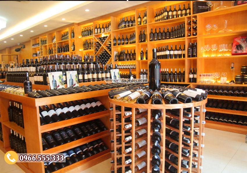 Mẫu showroom trưng bày rượu vang tiêu chuẩn SR29
