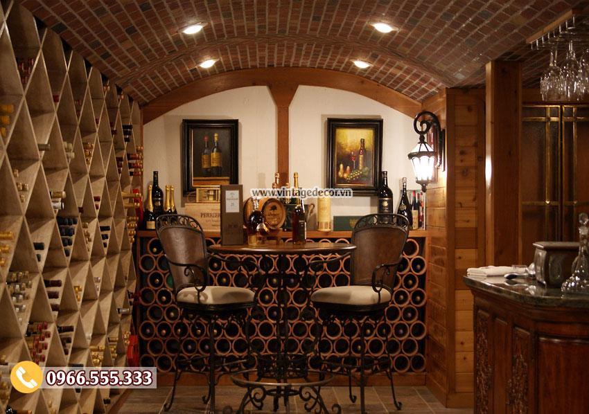Mẫu thiết kế phòng nếm rượu tại nhà đẹp HR57