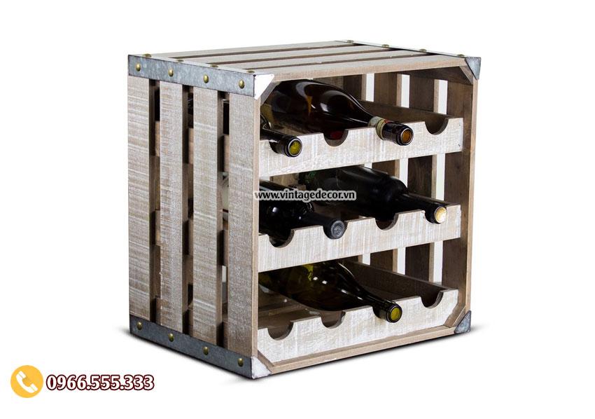 Mẫu kệ rượu vang nghệ thuật TBR40