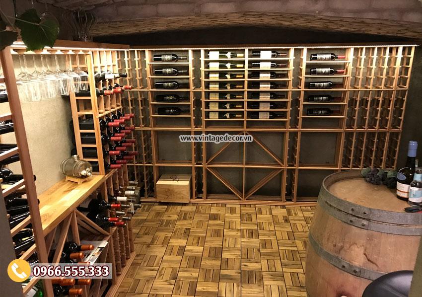 Mẫu thiết kế hầm rượu trong nhà đẹp HR93