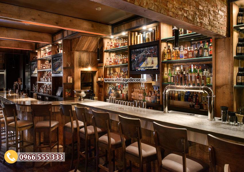Mẫu thiết kế quán bar rượu vang đẹp BR47