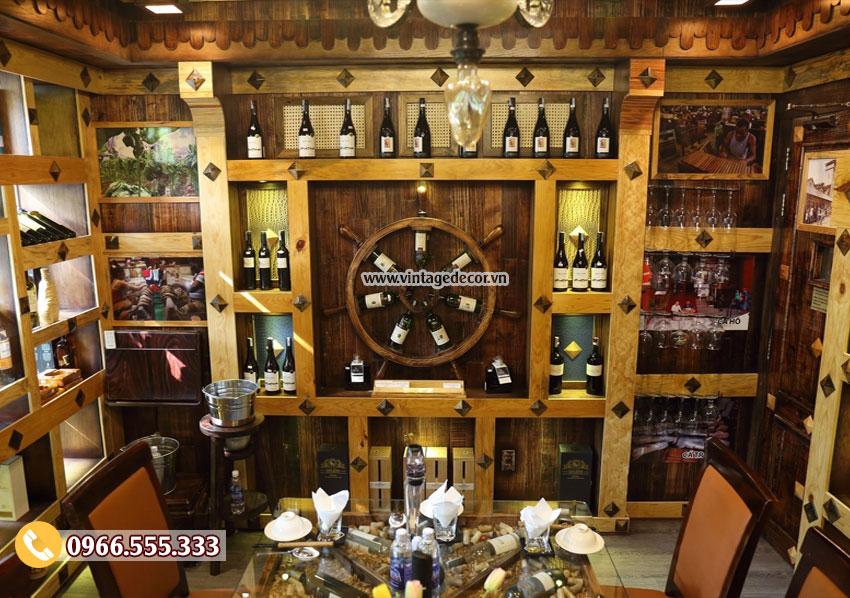 Mẫu thi công hầm rượu nhà hàng sang trọng BR82