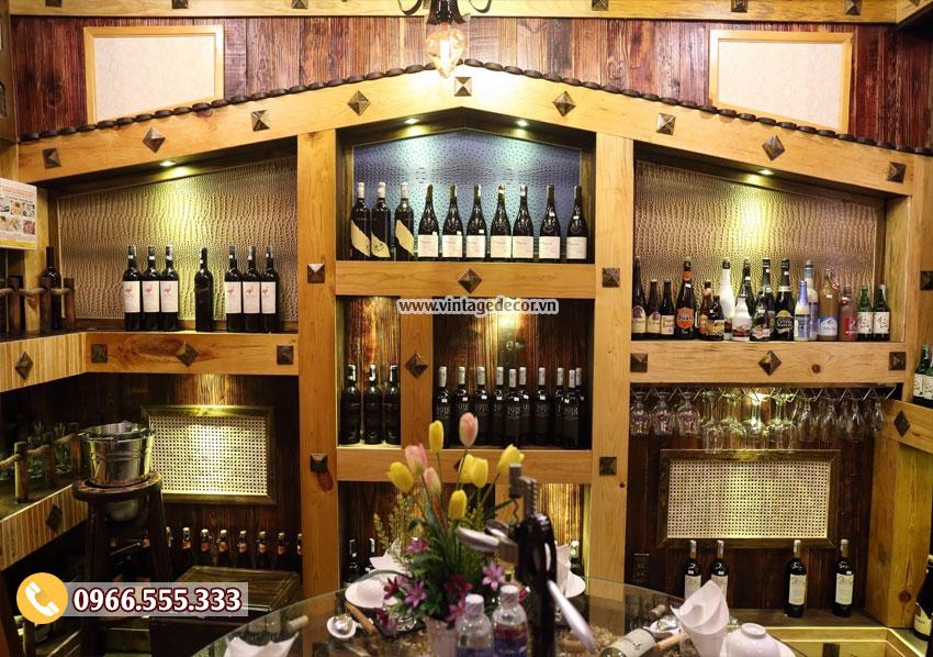 Mẫu thi công hầm rượu cổ điển cho nhà hàng đẹp BR84