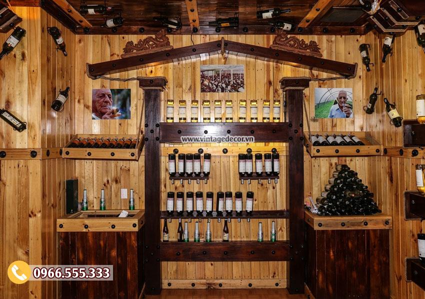 Mẫu thi công hầm rượu vang nhà hàng BR80