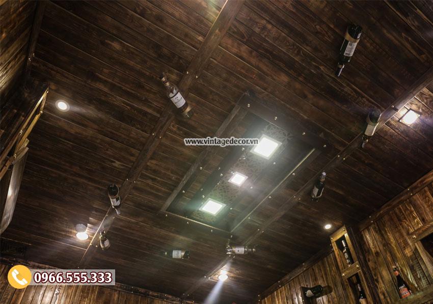 Mẫu thiết kế hầm rượu nhà hàng đẹp BR68