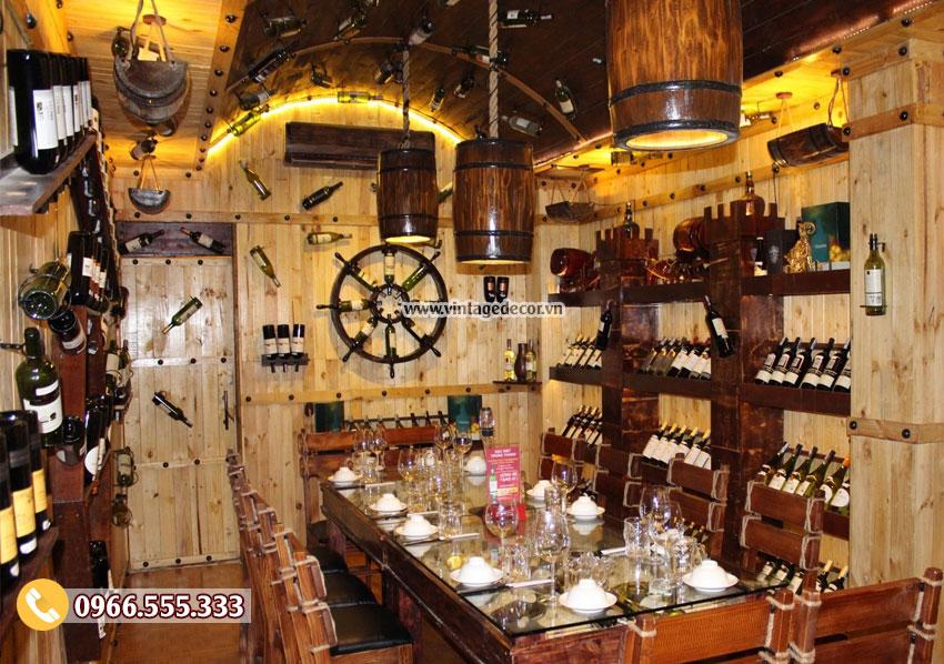 Mẫu thi công hầm rượu nhà hàng đẹp BR75