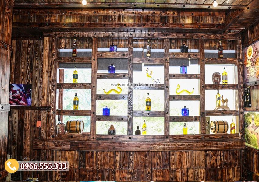 Mẫu hầm rượu nhà hàng phong cách Vintage BR76