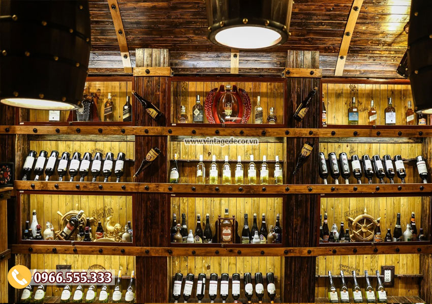 Mẫu thiết kế hầm rượu nhà hàng cổ điển BR77