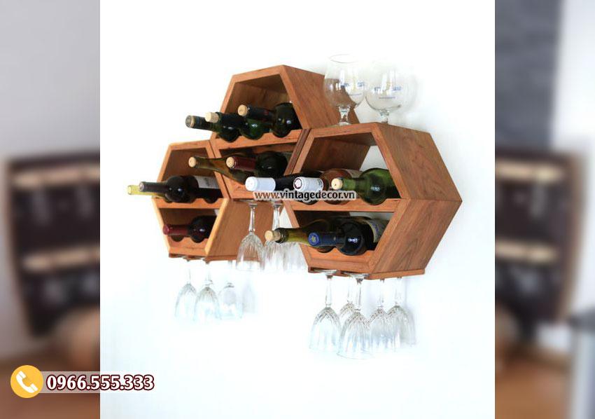 Mẫu kệ rượu Decor trang trí tường KR16