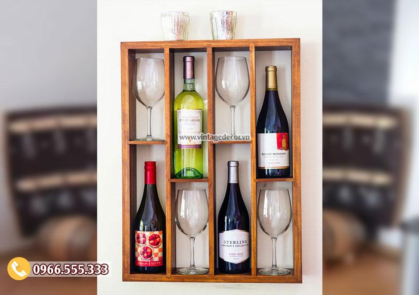 Mẫu kệ rượu treo tường đẹp KR35