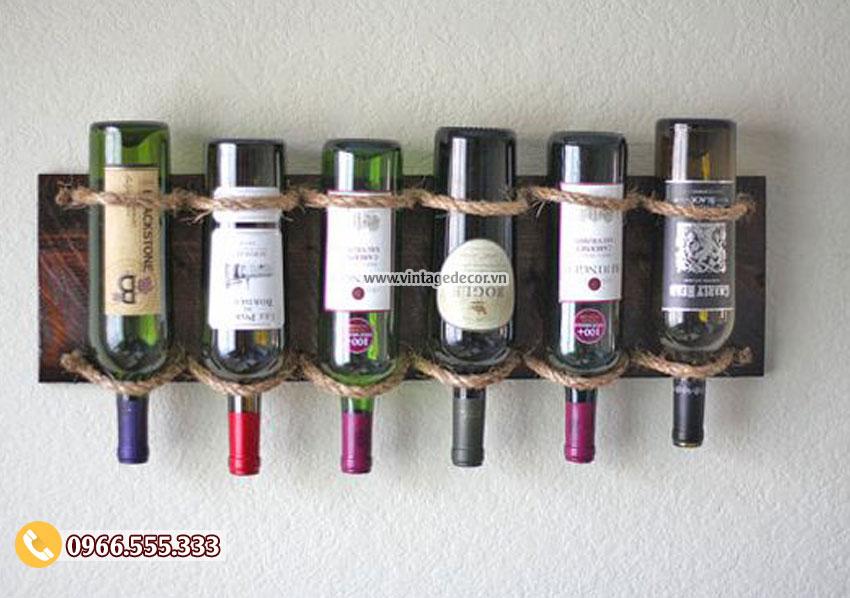 Mẫu kệ rượu trang trí treo tường KR33