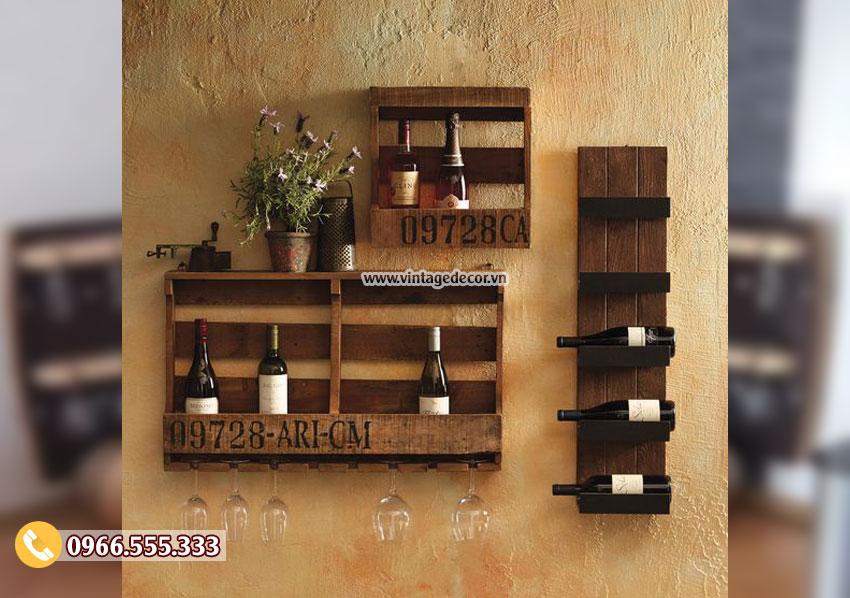 Mẫu kệ rượu tùy chỉnh treo tường KR46