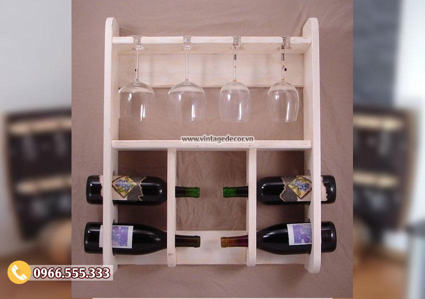 Mẫu kệ rượu gắn tường mini KR40