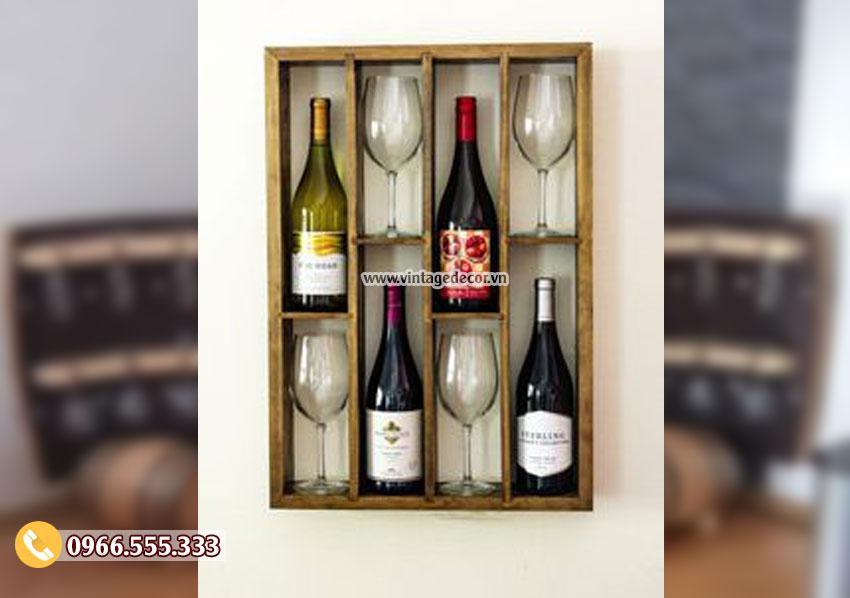 Mẫu kệ treo rượu vang đẹp KR31