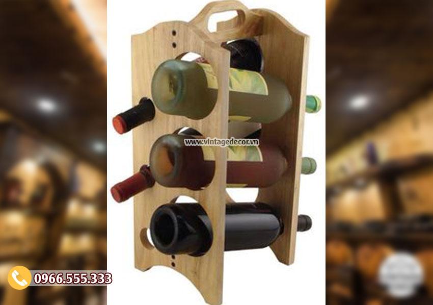 Mẫu kệ rượu vang đẹp nghệ thuật KR70