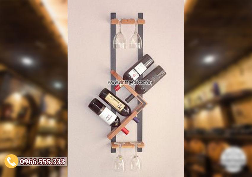 Mẫu kệ rượu treo tường đẹp KR49