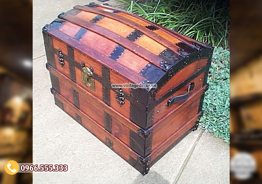 Mẫu rương gỗ Vintage Decor RG01