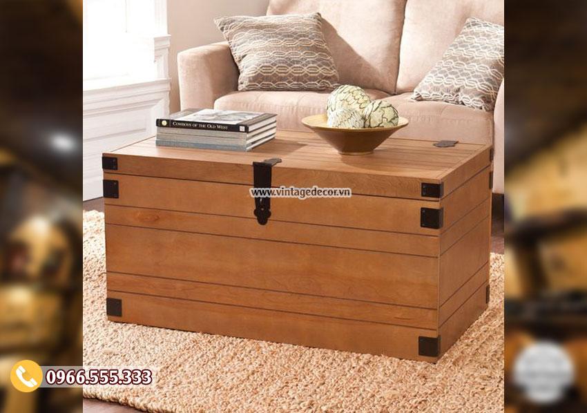 Mẫu rương gỗ đa năng phòng khách RG01