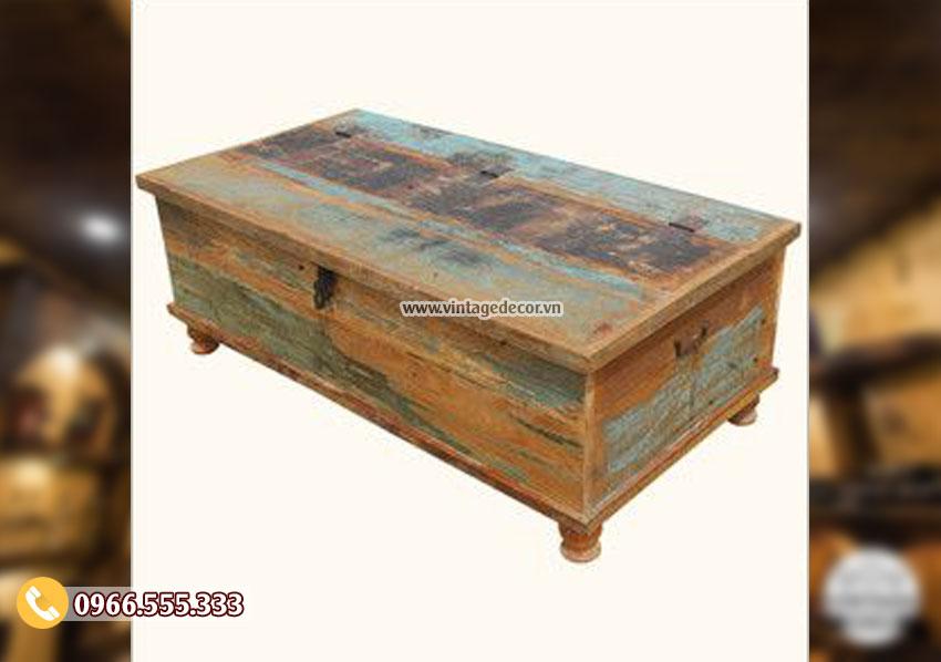 Mẫu rương gỗ trang trí phong cách Vintage RG14