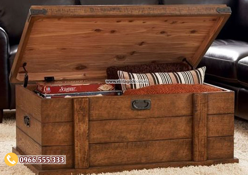 Mẫu rương gỗ chứa đồ đa năng RG19