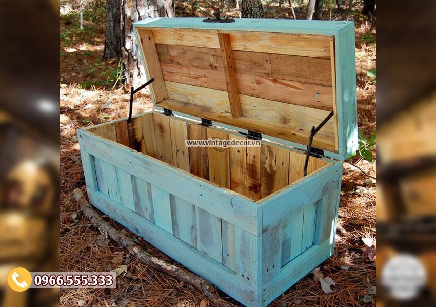 Mẫu rương chứa đồ bằng gỗ trang trí RG02