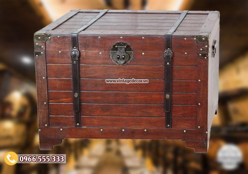 Mẫu rương gỗ lưu trữ cổ trang trí RG25
