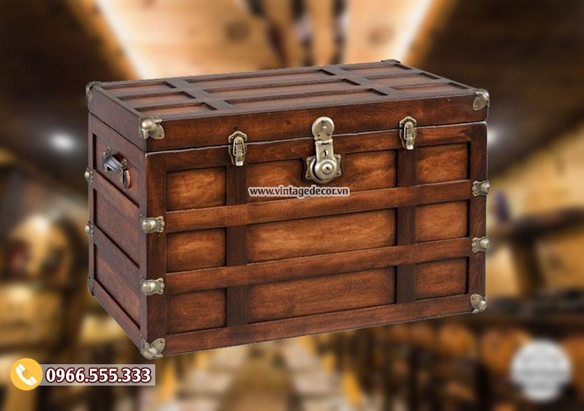 Mẫu rương gỗ thông nhỏ trang trí RG27