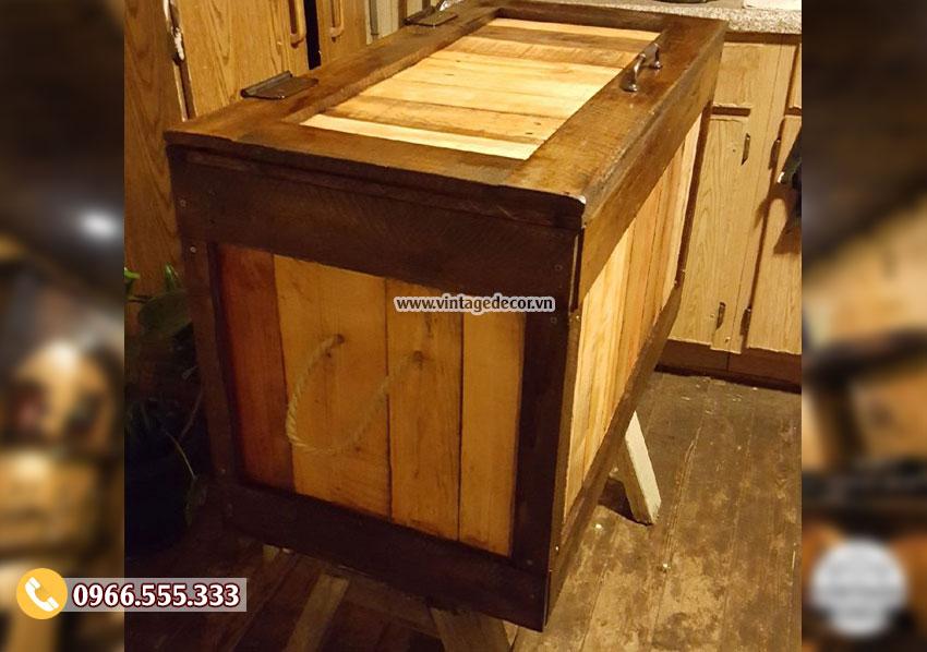 Mẫu rương gỗ đa năng chứa đồ RG03
