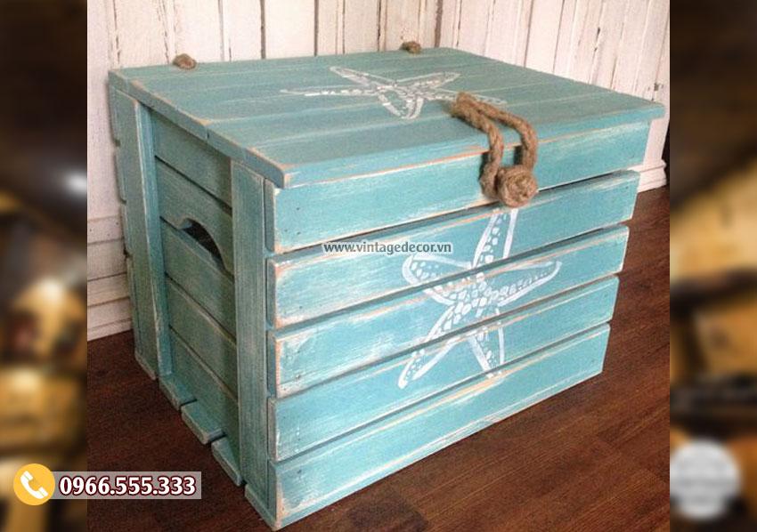 Mẫu hộp rương gỗ trang trí đẹp RG06