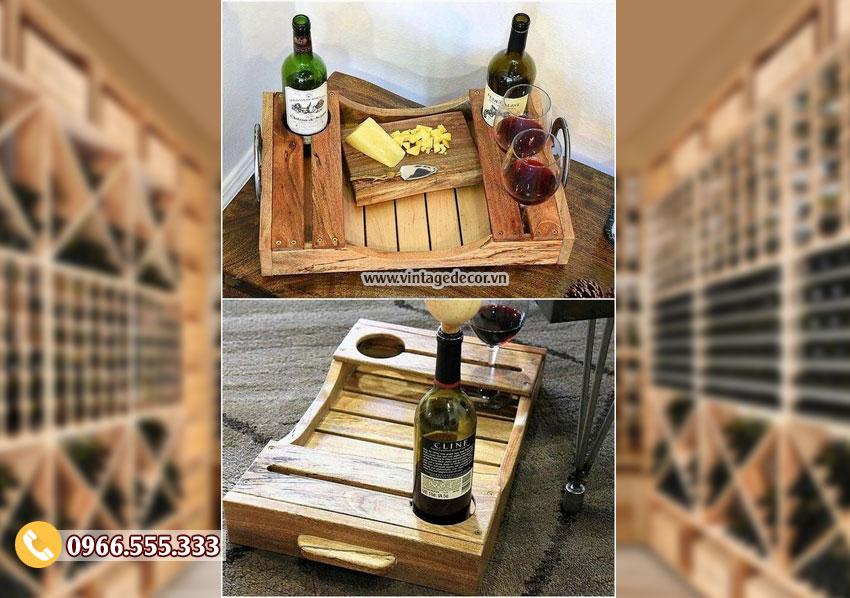 Mẫu kệ rượu để bàn trang trí TBR107