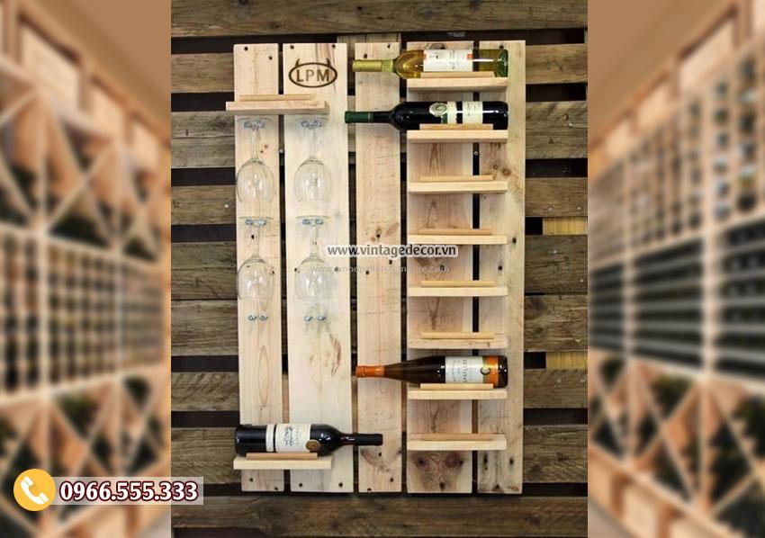 Mẫu kệ rượu gỗ công nghiệp TBR109