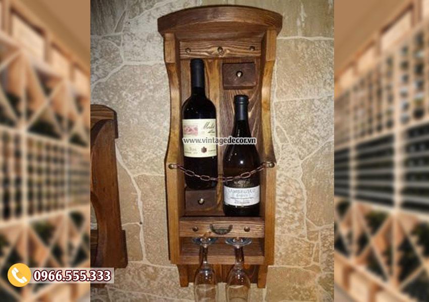 Mẫu kệ tủ rượutreo tường TBR112