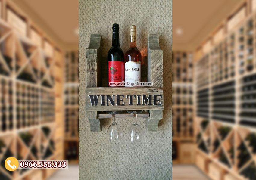 Mẫu kệ rượu vang mini chắc chắn TBR114