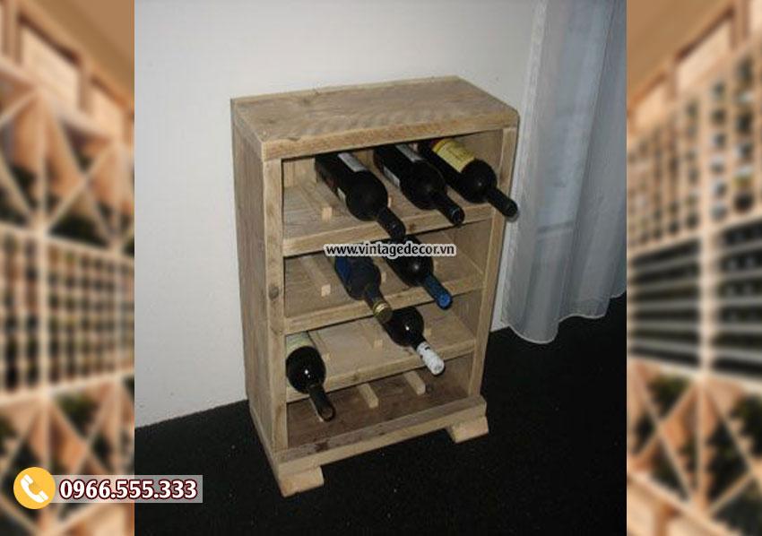 Mẫu kệ tủ rượu gỗ chắc chắn TBR124