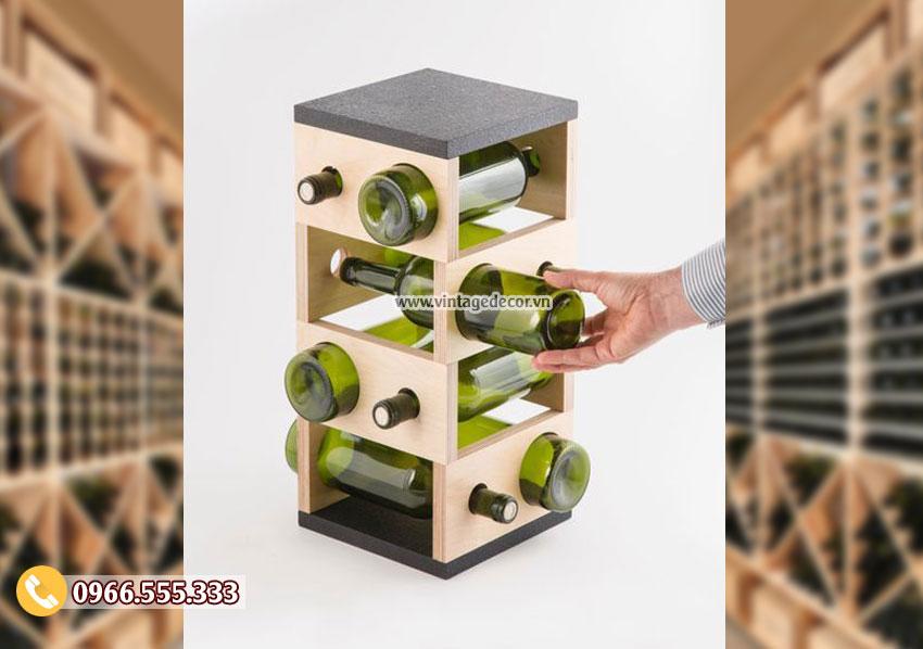 Mẫu kệ rượu trang trí phong cách hiện đại TBR131